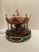 Lemax Village Collection Santa Carousel 34682 As-is Sv0216