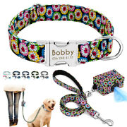 Personalized Pet Dog Collar Andpoo Bag Dispenser Andleads Set Pick Up Bags Poop S-l