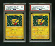 2020 Pokemon Tcg Special Delivery Pikachu Rare Card Psa 9 Mint 2 Card Lot