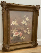 Vintage Homco Home Interior Floral Picture Syroco Wood Look Flowers Wall Hanging