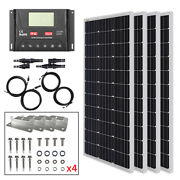 Hqst 400w Solar Panel Kit W/ Pwm30a Solar Controller For Rv Home Cabin Off Grid