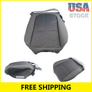 Fit For 2011-2014 Ford F150 Gray Steel Bottom Cloth Seat Cover Front Driver Side