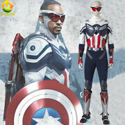 The Falcon Cosplay Sam New Captain America Costume Jumpsuit Vest Men Outfit