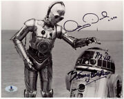 Anthony Daniels Kenny Baker Signed Autographed 8x10 Photo Star Wars Opx Beckett