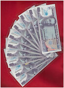 2013 Philippines 100 Peso 20th Bsp Comm 10 P Solid 111111 To 999999 1mil 888888