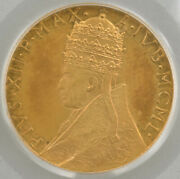 1950 Vatican City Gold 100 Lire Holy Year Pcgs Ms63 Ogh Great Toning