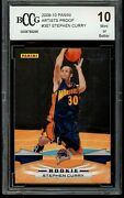 Stephen Curry 2009-10 Panini Artist's Proof 12/199 Rookie Bgs Bccg 10