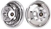Dodge Ram 3500 17 Inch Stainless Steel Hubcaps Simulators 2003 - 2018 Bolt On