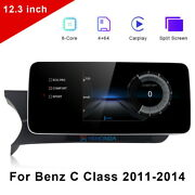 12.3 Android 10 Car Gps Touch Navi Screen For Mercedes Benz C Class W204 2011+