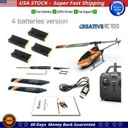 Eachine E129 2.4g 4ch 6-axis Gyro Altitude Hold Flybarless Rc Helicopter Rtf New