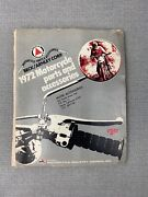 1972 Beck / Arnley Motorcycle Parts And Accessories Catalog Tires Clothing Etc.