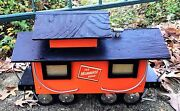Vintage Milwaukee Railroad Toy Hobby Train Transportation Collectible Caboose