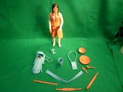 Vintage 1974 Marx Johnny Best Of The West Princess Wildflower With Accessories