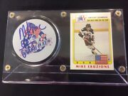 Mike Eruzione Signed Autographed 1980 Usa Olympic Hockey Miracle On Ice Puck