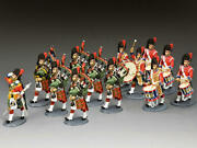 King And Country Ce028 The Black Watch Pipes And Drums 1/30 Metal Toy Soldiers