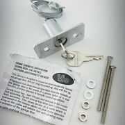Vee Outside Garage Door Opener, Keyed Cable Release Lock Disconnect Device - New