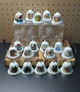 Disney Christmas Bells Ornaments By Grolier Collectibles Set 18