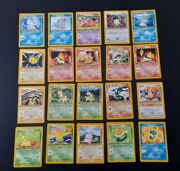 Pokemon Card Neo Genesis Complete Non Holo Set Nm/m 56 X 1st Edition Cards
