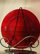Vintage Ruby Red Depression Glass 7andrdquo Luncheon Plates - Set Of 6