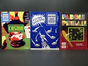 Trs-80, Lot Of 3 Manual's Casino, Flying Saucer And Paddle Pinball, Radio Shack