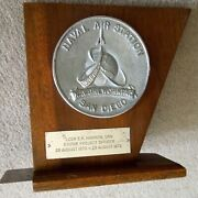 Vintage 1972 Us Naval Air Station North Island, S.d., Command Plaque/bookend