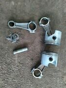 Johnson Evinrude 3 Cyl Standard Pistons 2 And Rods 3 70hp 1999