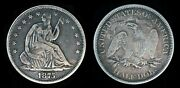 1875-s Seated Liberty Half Dollar No Arrows Or Rays San Francisco Mint 50c Coin