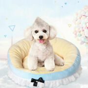 Ribbon Bows Dog Bed Tent Mat Pad Cat Sofa Pet Teddy Cat Puppy House Nest Kennel