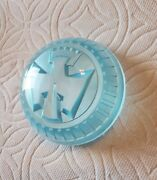 1950 Chevrolet Butterfly Steering Wheel Center Cap Tinted Blue Sea