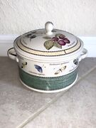 Wedgewood Sarahs Garden 2qt Covered Casserole Dish Vegetable Bowl W Lid New