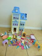 Fisher Price Loving Family Sweet Sounds Victorian Mansion Dollhouse Lot