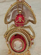 Fabergé Egg Trinket Russian Music Box Gift For Women Faberge Birthday 24k Gold