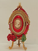 Unique Birthday Gift For Women Sister Daughter Faberge Egg Musical Jewelry Box