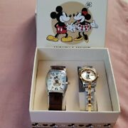 Disney Mickey And Minnie Watch Limited To 3000 Golden Years 80th Anniversary Dhl