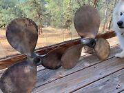 Lot Pair Spare Boat Marine Props 1 23x17 Rh And 1 24x17 Lh. 1 3/4 Shafts