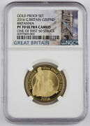 Great Britain 2016 Britannia 1/2 Oz Gold Andpound50 Pound Proof Coin Ngc Pf70 First 50