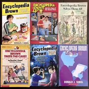✳️lot Of 6 Encyclopedia Brown Mysteries Boys Kids Childrens Youth Chapter Books