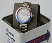 New Authentic Fossil Dayle Silver Blue Pink Womenand039s Bq3598 Watch