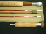 Vintage 50's Payne Sold By Abercrombie Fitch Model 420 Dry Fly Salmon Bamboo Rod