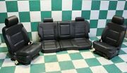 14-19 Sierra Crew Black Leather Heated Cooled Seat Set Front Left Right Rear Oem