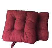Whitley Willows Reversible 2 Pack Plush Chenille Chair Pads Dark Red Cushions