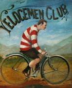 Velocemen Club Cycles 1910 Vintage Poster
