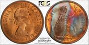 1967 Great Britain One 1 Penny Pcgs Ms64rb Rare Toned Finest Known Worldwide
