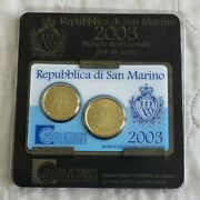 San Marino 2003 20/50 Cent Uncirculated Pair - Sealed Pack