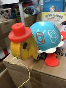 Vtg Fisher Price Wooden Pull Toy 773 Musical Tip Toe Turtle W Box 1962