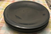 Four Paden City Highlight Tharaud Russel Wright Blueberry 10-inch Dinner Plates