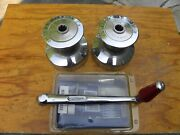 2 Lewmar 40 Chrome Bronze 2-spd Winches W Winch Handle And Lewmar Service Kit-nice