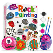 Rock Painting Kit For Kids - Arts And Crafts For Girls And Boys Ages 4-12 - Crafts