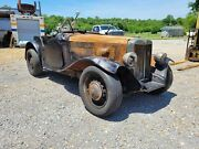 1952 Mg Td Salvage Project Rat Rod Mgtd Roadster Convertible Old Car Antique