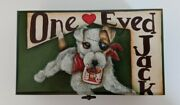 Hand Painted Dog Playing Card Deck Holder, Stash Box, Wooden Box, Poker